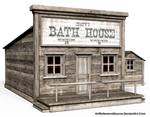 Free Stock PNG:  Old Western Bath House