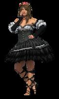 Stock:  3D Render of Model in Dress