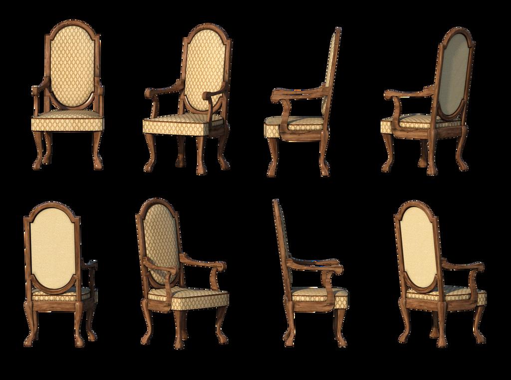 Free Stock PNG Same Chair 8 Views