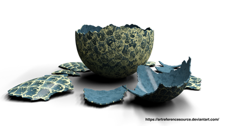 Stock PNG:  Cracked Dragon Egg