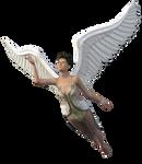 Stock:  Angel in flight PNG