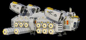 Free Stock PNG:  Sci Fi Cargo Ship