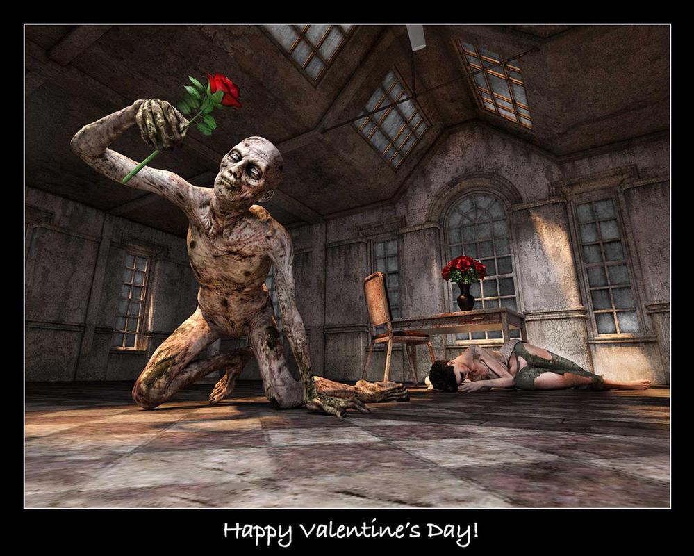 Dark Valentine's Day Card by ArtReferenceSource
