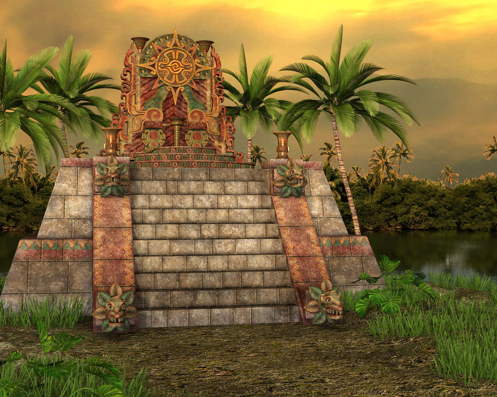 Mayan Style Temple by ArtReferenceSource