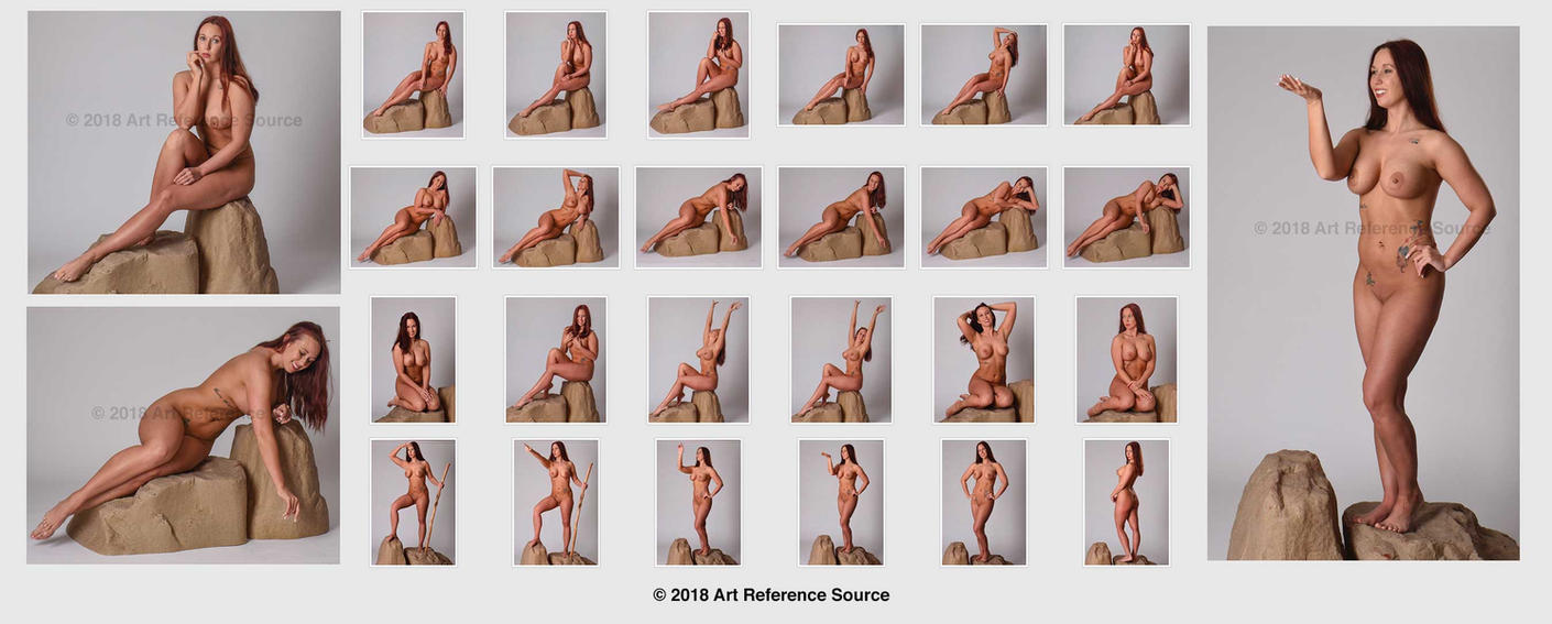 Stock:  New Model Allison 24 Nude Fantasy Poses by ArtReferenceSource
