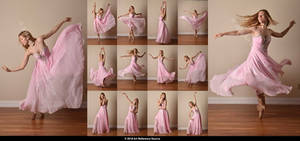 Stock:  Poppy Seed 12 Ballet Poses in Pink Gown