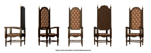 Free Stock PNG:  Medieval Chair