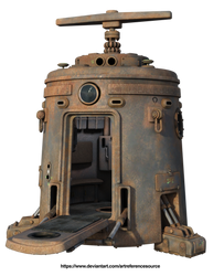 Free stock PNG:  Rusty space module