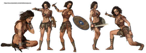 Free Stock PNG:  Female Warrior