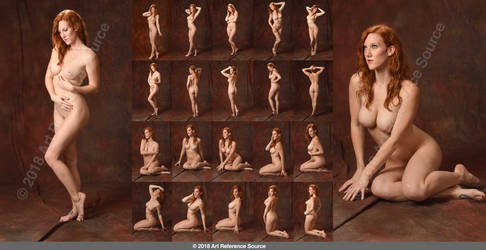 Stock: Amelia Rose 20 Standing and Seated Nudes by ArtReferenceSource