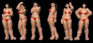 Free Stock PNG:  Girl in red bikini