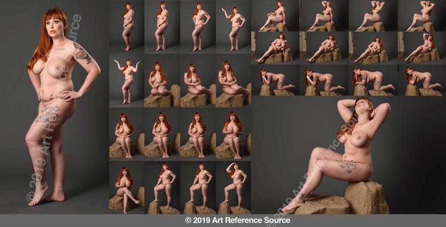 Stock:  Brandi plus size figure model by ArtReferenceSource