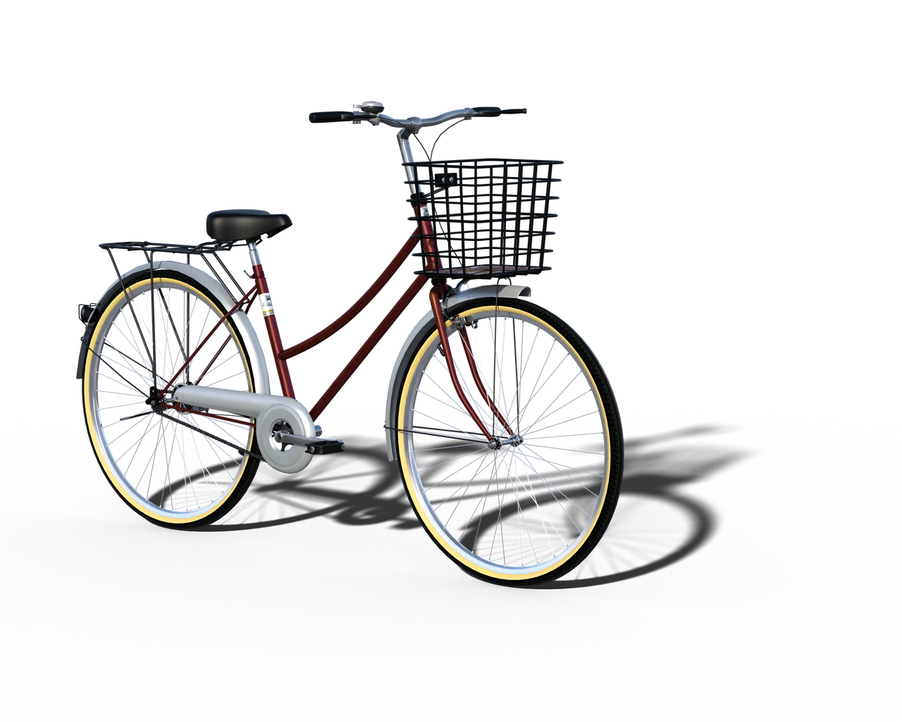 Free Stock PNG:  Vintage Bicycle with Shadow