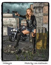 My portfolio:  Mikayla with Guns