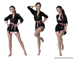 Free Stock PNG:  Woman in robe 3 poses