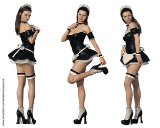 Free Stock PNG:  Shannon, Sexy French Maid