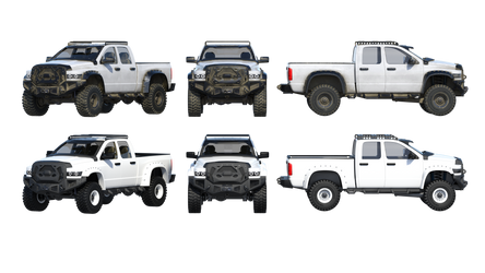 Free Stock PNG:  Clean and Dirty Truck