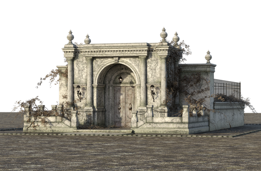 Free Stock PNG:  Old Greek Style Building