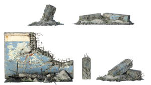 Free Stock PNG:  Urban rubble