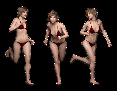 Free Stock PNG:  Sonja 3 running poses