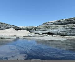 Free Stock Background:  Rocks and Lake