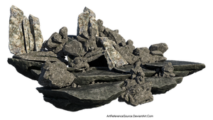 Free Stock PNG:  Jagged Rock Formation
