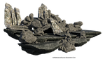 Free Stock PNG:  Jagged Rock Formation by ArtReferenceSource