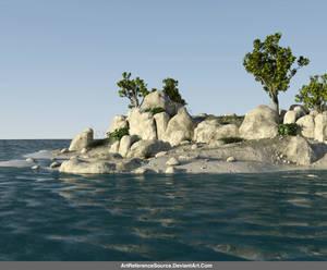 Free Stock JPG:  Rocky Island