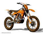 Free Stock PNG:  Off Road Motorcyle