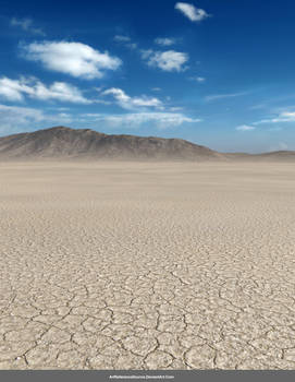 Free Stock Background:  Desert with Blue Sky