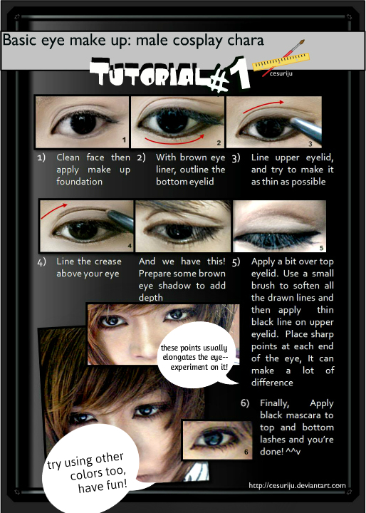 Basic male eye make up Tutorial 01 by ikumi00 on DeviantArt