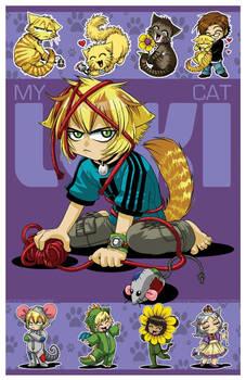 CHIBI MAXI PRINT - My Cat Loki