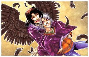 Winged Hug - Micah n Tristan by DreamworldStudio