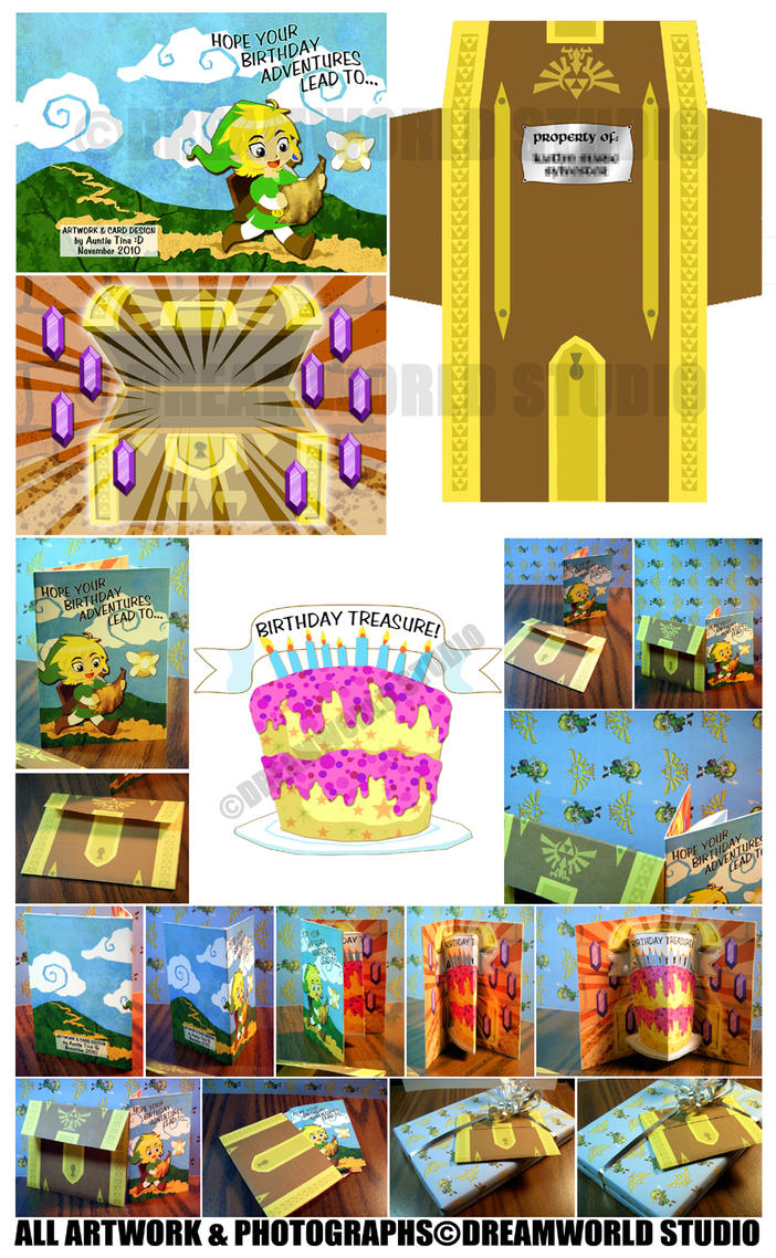 LINK - Birthday card design by DreamworldStudio