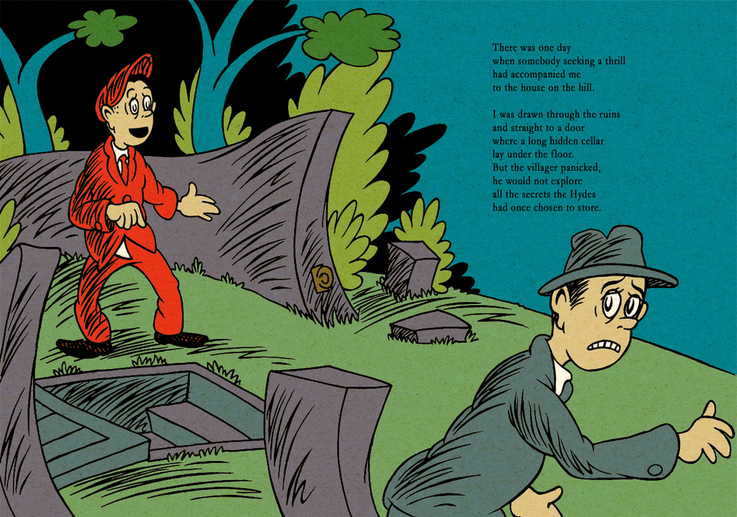 HPL's The Tomb (for beginning readers) - P38-39 by DrFaustusAU