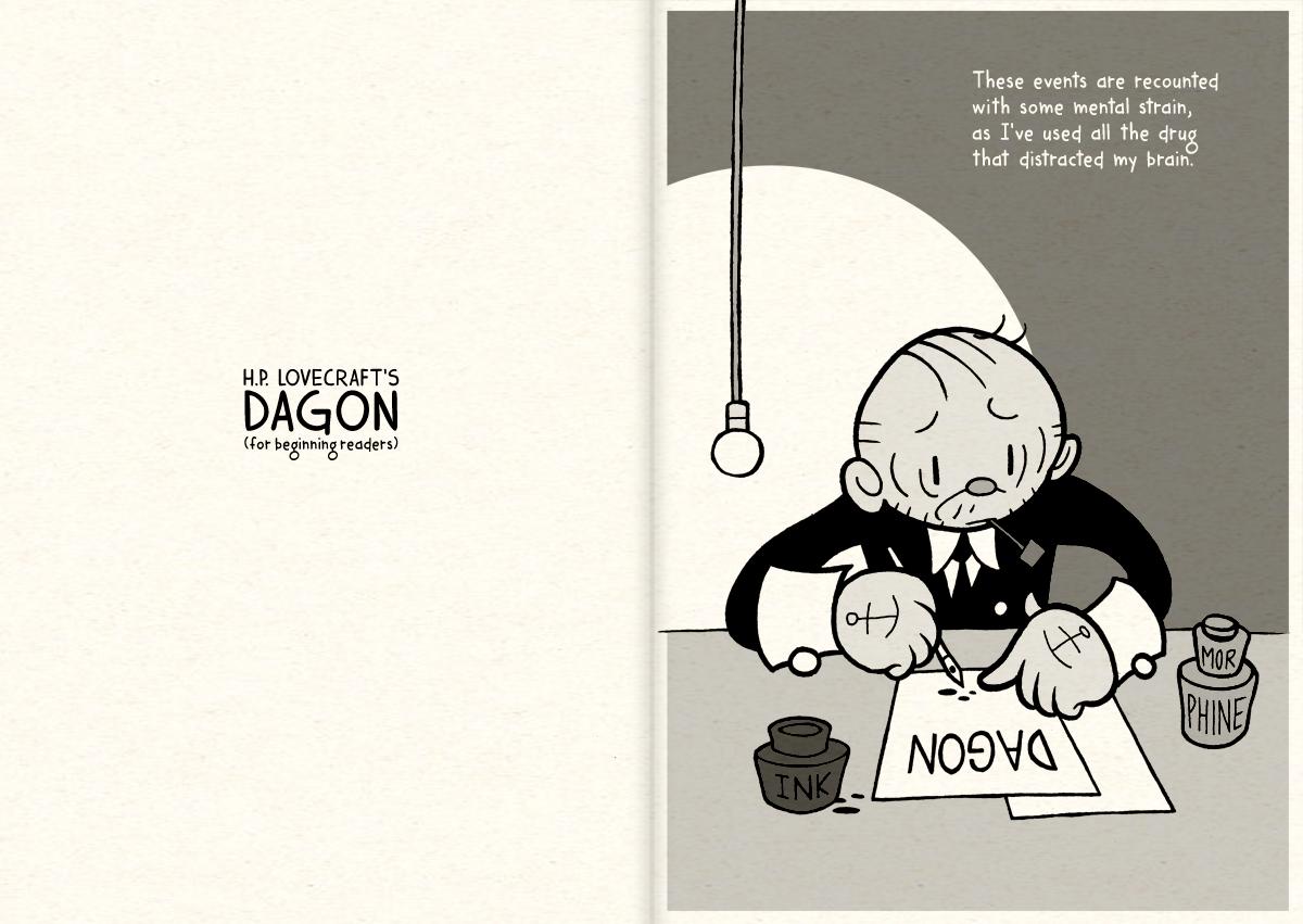 HPL's Dagon (for beginning readers) - P00-01 by DrFaustusAU