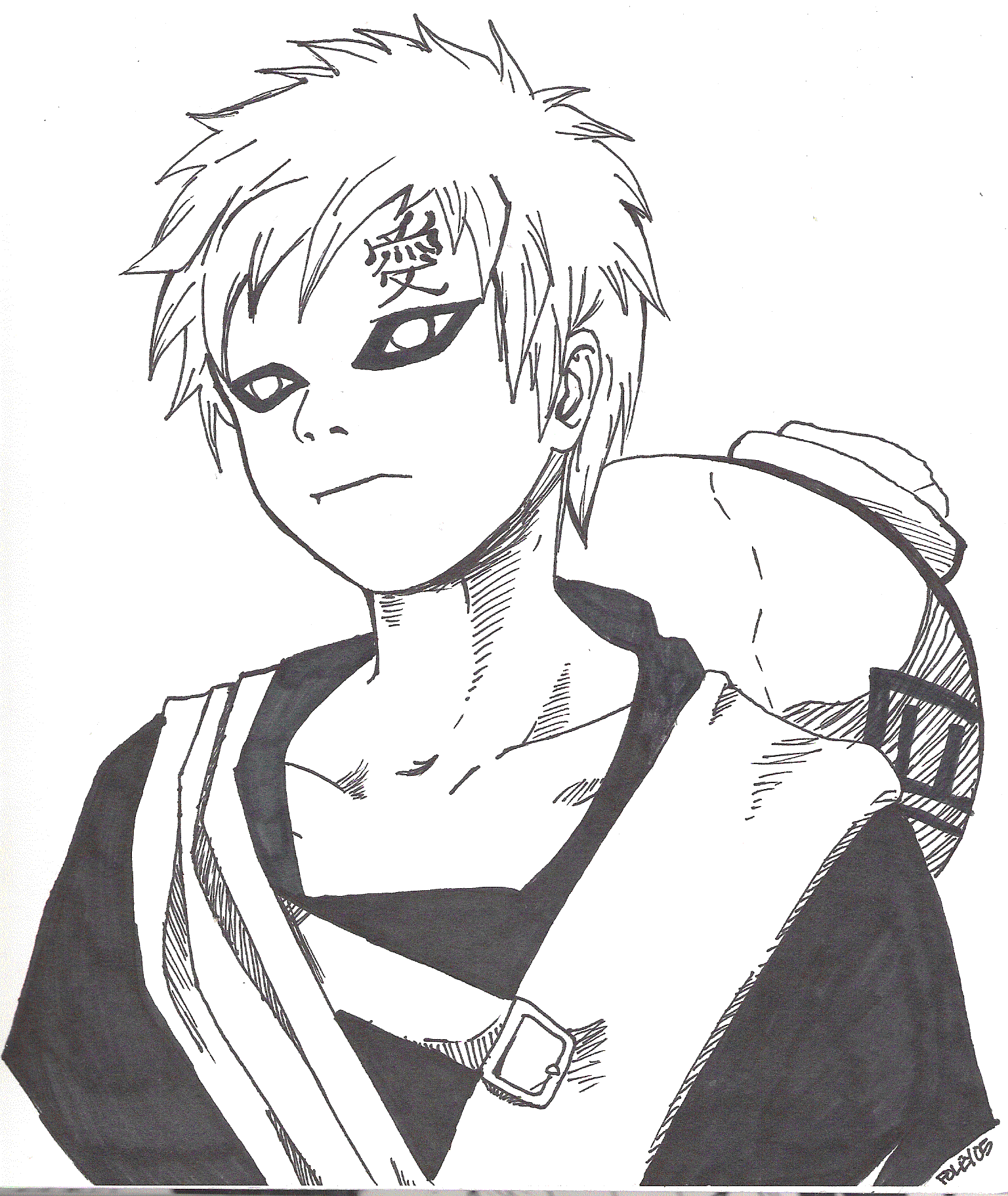 gaara coloring pages - photo#41