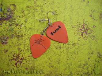 Orange Fuel Guitar Picks by harleyfuelierock