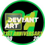 DeviantART 21st Anniversary Logo
