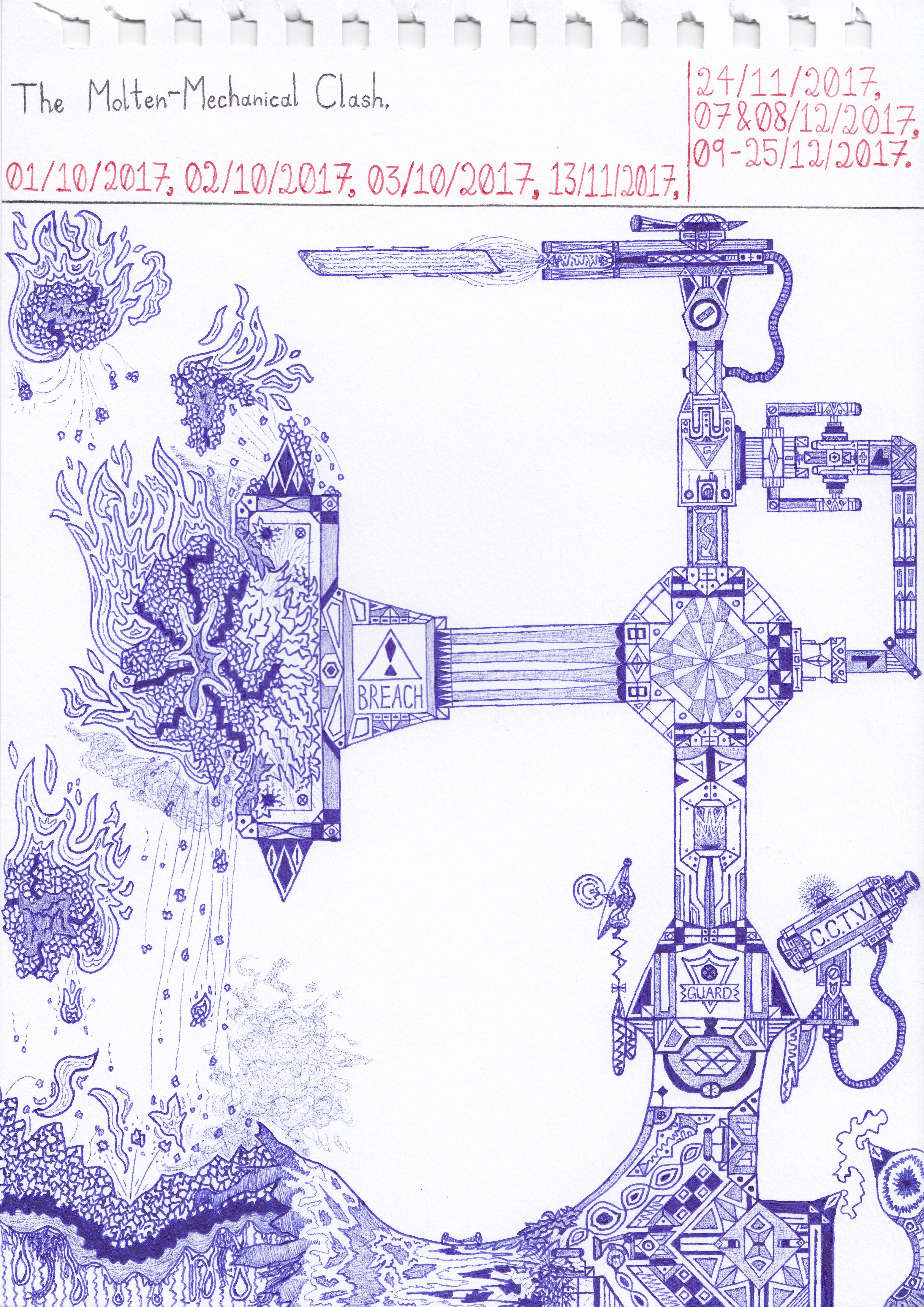 Art #68 -- The Molten-Mechanical Clash.