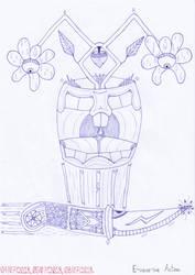 Art #75 -- E-vase-ive Action by Naean