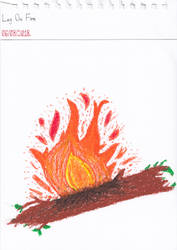 Art #80 -- Log On Fire by Naean