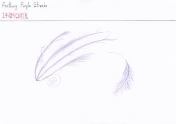 Art #84 -- Feathery Purple Streaks by Naean