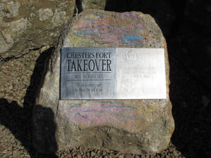 Photo #43 -- CHESTERS FORT TAKEOVER Plaque - Sh...