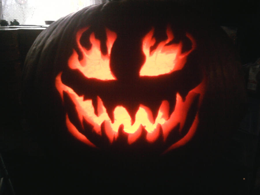 Evil pumpkin face of doom by kawaiiday on deviantart for Evil face pumpkin template