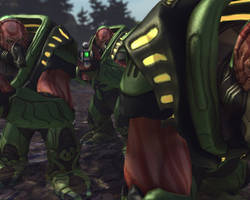 X-Com Enemies - Muton by Dragonlord965
