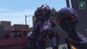 X-Com Enemies - Mechtoid by Dragonlord965