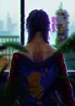 Painting() Kusanagi Motoko - Ghost in the Shell
