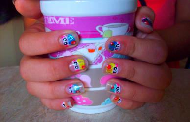 Cute Cupcake nails by o0-hiitomii-0o