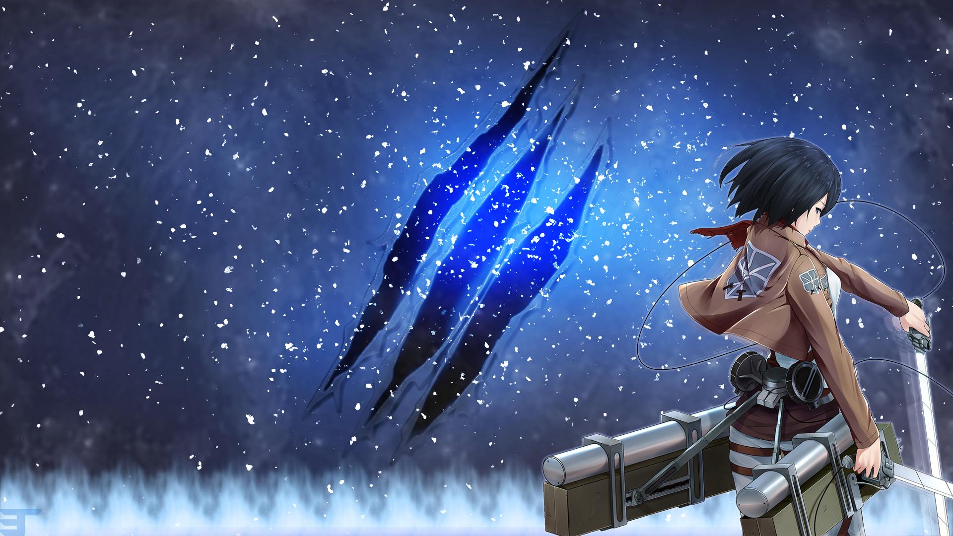Attack On Titan Mikasa Wallpaper By Etrnlpanda On Deviantart